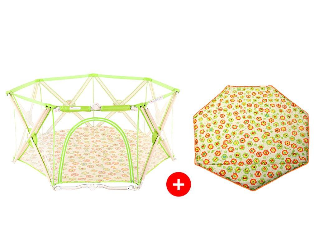 【NEW限定品】 キッズアクティビティセンタークロウリング幼児のフェンス屋内玩具セキュリティフェンスの安全なプレイヤードホーム屋内屋外の新しいペン : (色 (色 : Green) Green Green B07F393ZCS, 浅羽町:3434e38b --- a0267596.xsph.ru