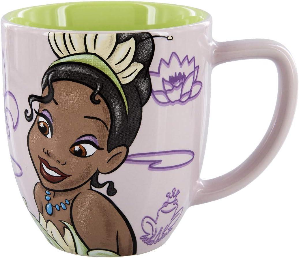 Disney Parks Tiana Never Give Up Portrait Ceramic Mug Cup