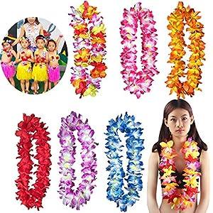 Hozhang New 1Pcs Counts Tropical Hawaiian Luau Flower Lei Party Favors 87