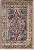 Safavieh Bijar Collection BIJ636B Traditional Oriental Vintage Royal Blue and Brown Area Rug (6'7″ x 9′)