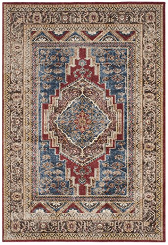 (Safavieh Bijar Collection BIJ636B Traditional Oriental Vintage Royal Blue and Brown Area Rug (8' x 10'))