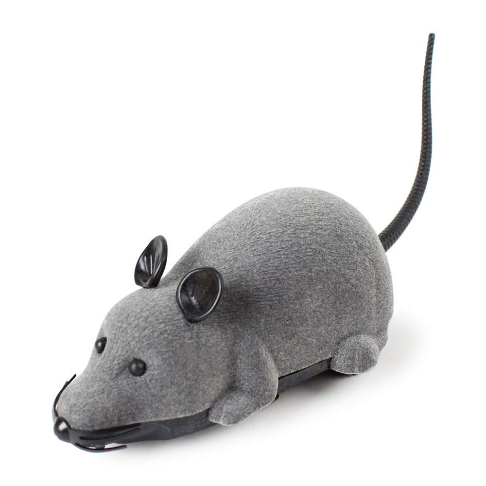 Sikye Remote Control Interactive Toy - Electronic RC Funny Mouse Rat Pet Toy for Cats (Gray)