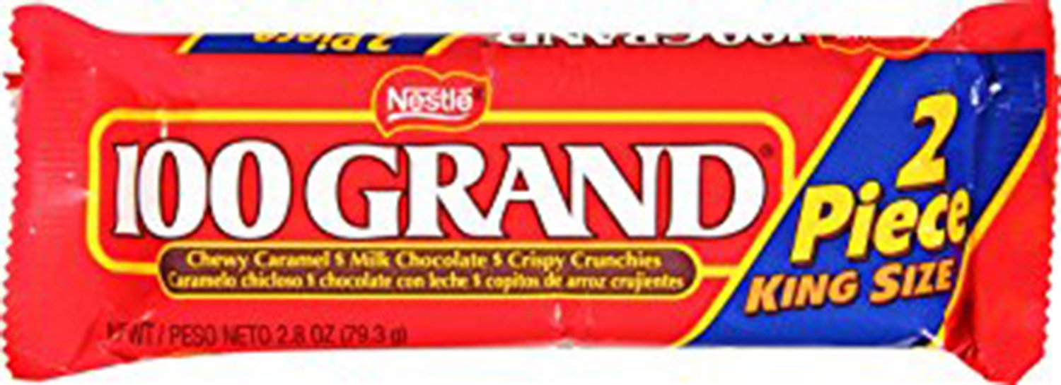 Nestle 100 Grand Share Pack, 2.8-Ounce Candy Bars (Pack of 24)