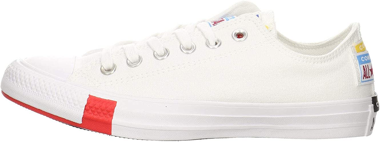 Converse Chuck Taylor All Star Ox Logo Play BlancNoir (WhiteBlack) Toile Adulte Formateurs Chaussures