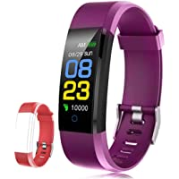 F-FISH Pulsera Actividad Inteligente Pantalla Color Reloj con Pulsómetro Impermeable Monitor de Ritmo Cardíaco Podómetro…