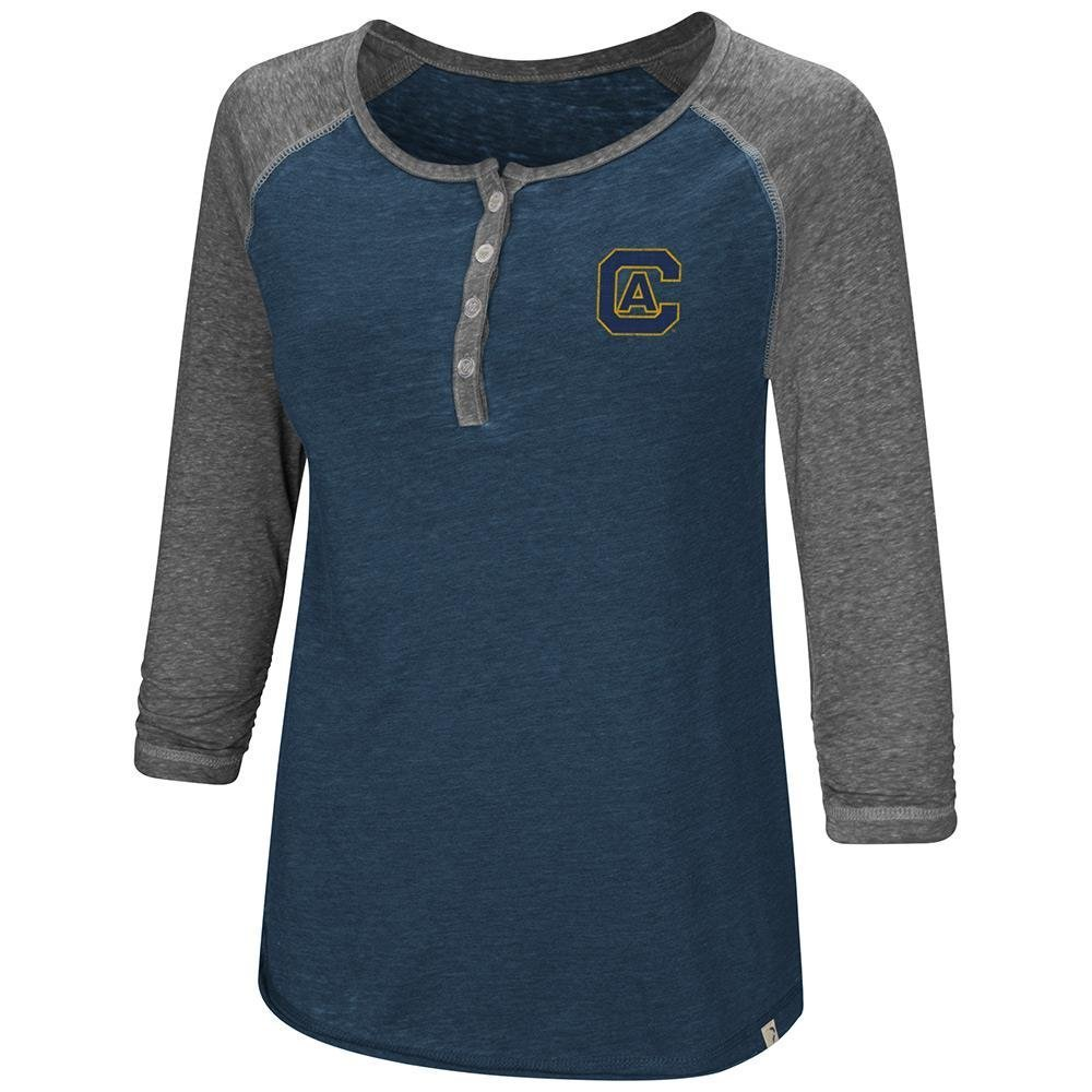Colosseum Womens UC Davis Aggies Henley 3 /4長袖Teeシャツ