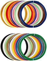 AmazonBasics PLA 3D Printer Filament, 1.75mm, 22 Assorted Colors, 1.25 kg total weight from AmazonBasics