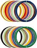 AmazonBasics PLA 3D Printer Filament, 1.75mm, 22 Assorted Colors, 1.25 kg Total Weight