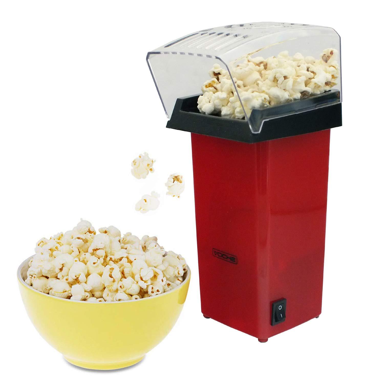 Fat-Free Popcorn Black Savisto Hot Air Popcorn Maker with 6 Popcorn Boxes Electric Popcorn Machine for Healthy