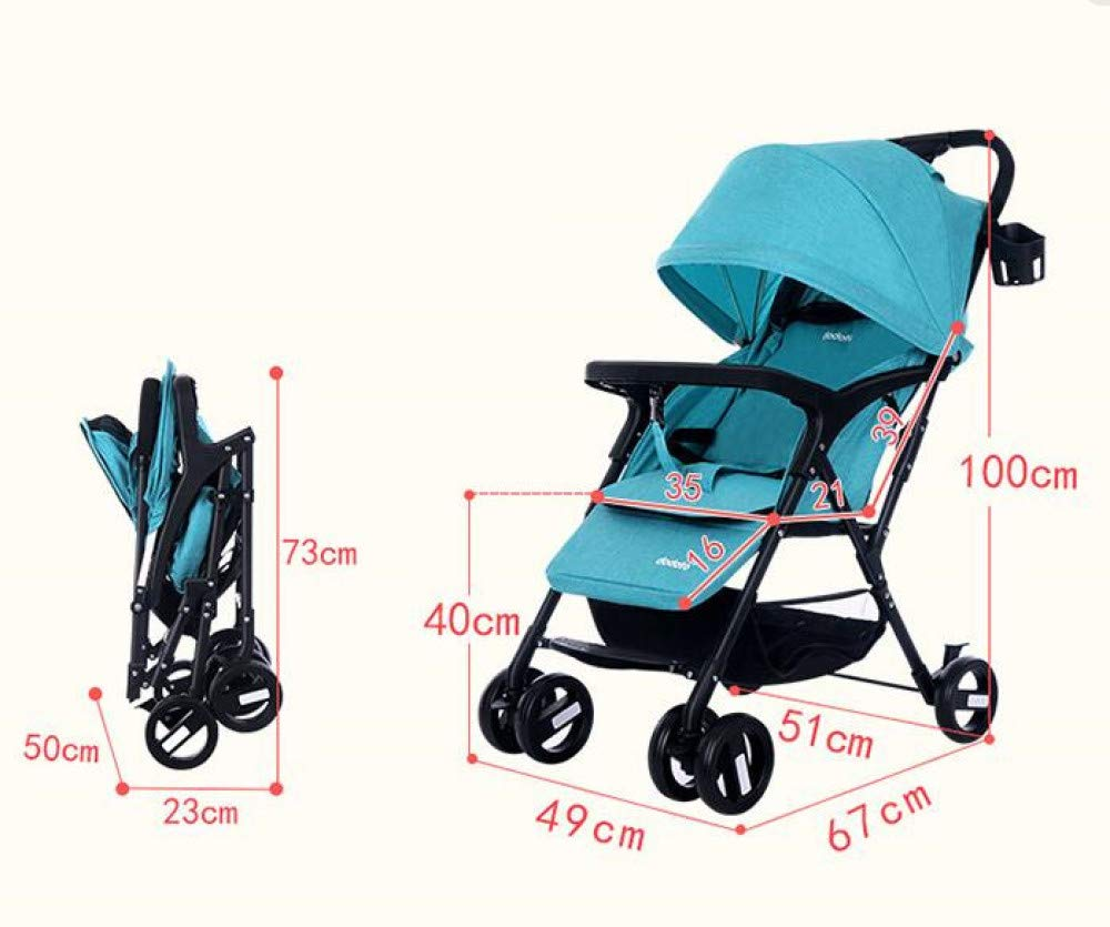 FDGHFGH Multifunctional Baby Four-Wheeled Cart Adjustable Caster Folding Lightweight Baby Wagon 0-3 Years Old by FDGHFGH (Image #2)