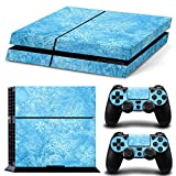 Protective Vinyl Skin Decal Cover for Sony PlayStation 4 PS4 Console & Remote DualShock 4 Controller Sticker Skins --- Blue SKy