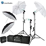 LimoStudio Photography Video Portrait Studio Daylight Umbrella Continuous Lighting Kit with Energy Saving Bulb, Photo Studio, AGG2332