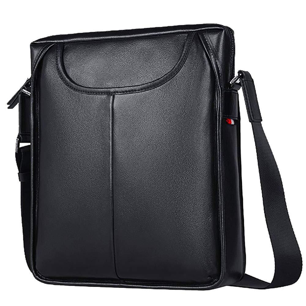 ブリーフケースPU大容量ポータブルビジネス旅行ラップトップバッグ(黒) B07LD9N5TQ