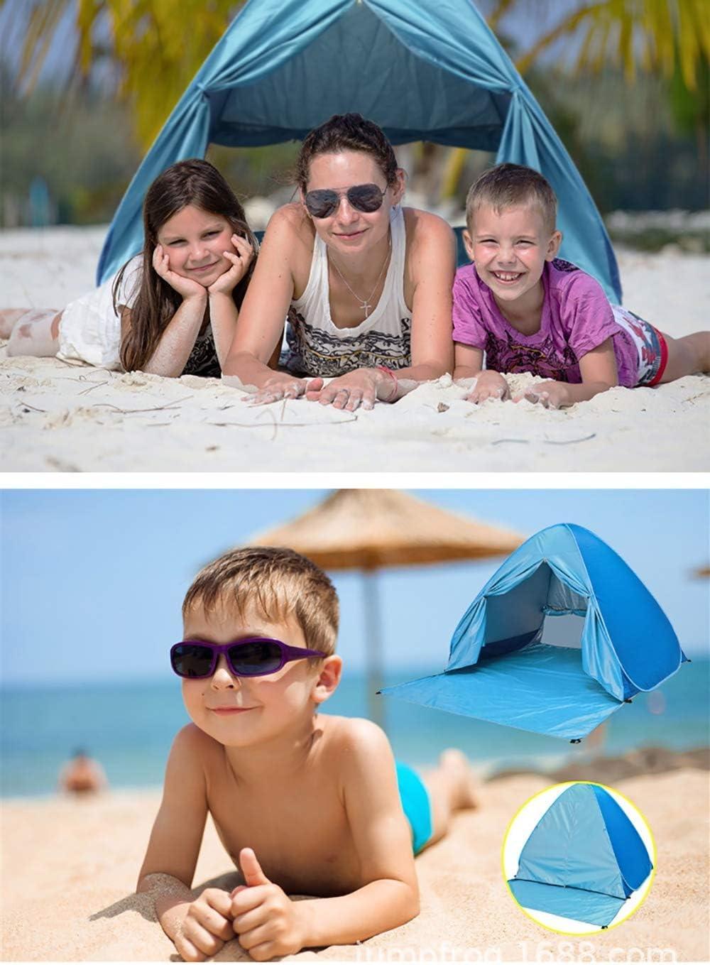 JDK Tienda de Playa automática para 2 Personas, fácil de Plegar, Sol con protección Impermeable UV UPF 50+ C