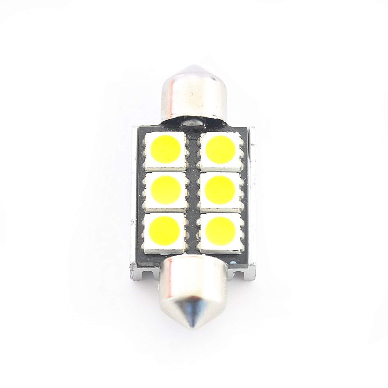 Haloku LED Voiture Ampoules Canbus sans Erreur Plaque Immatriculation Blanc 6418 36mm Feston Lampes 2 Pi/èces