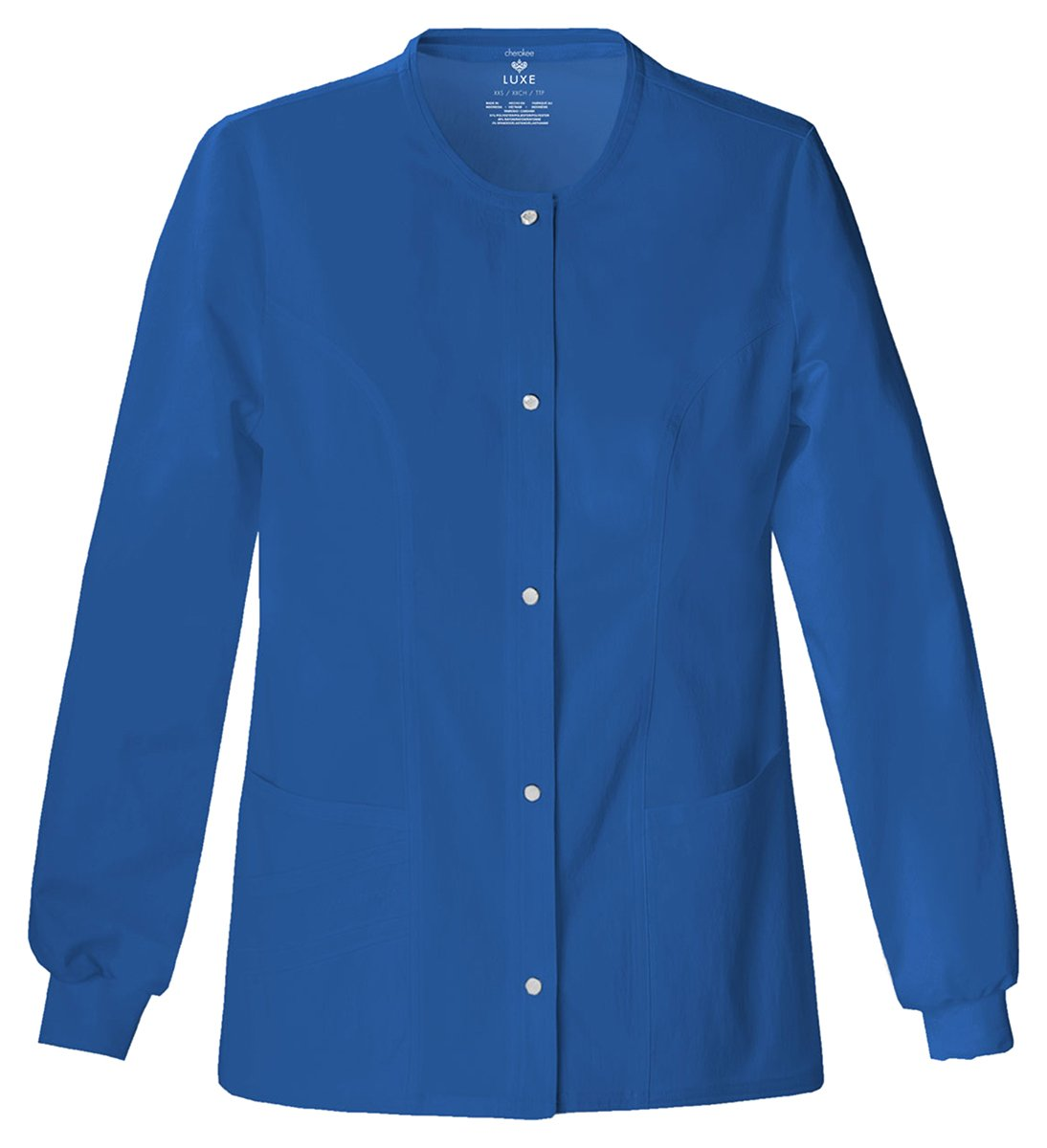 Cherokee Women's Slim-Snap Front Warm-Up Jacket_Royal_X-Small,1330