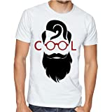 Casotec Men's Cool Beard Personalised Printed Polyester Sports Round Neck T-Shirt
