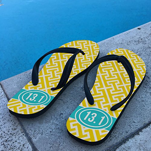 Running Flip Flops Tread Pattern With Ribbon 13.1 Yellow PpYWjGbe