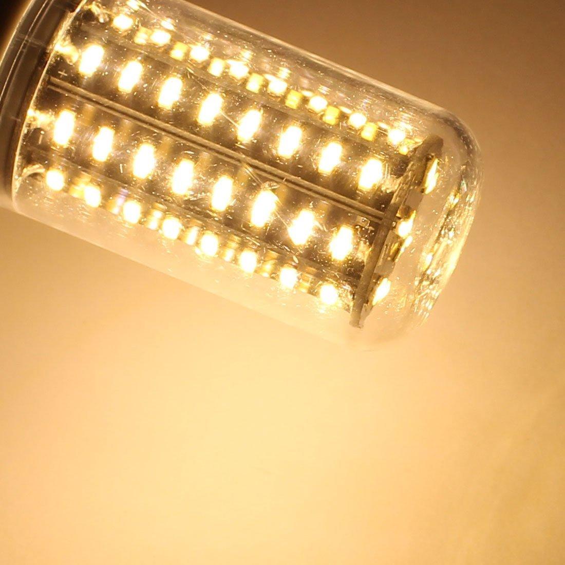 eDealMax CA 110V New Super brillante E14 8W 72 LED 4014 SMD ahorro de energía lámpara del maíz del bulbo blanco caliente - - Amazon.com