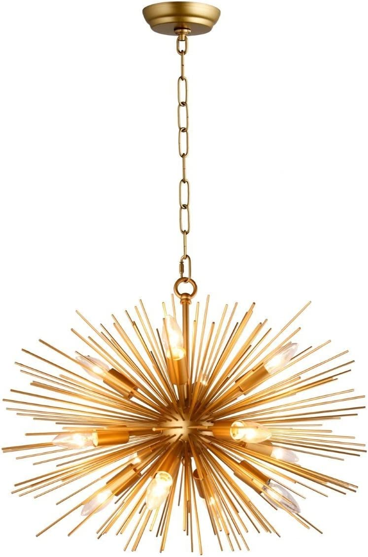 24 Inch Wide Astra Sputnik Satellite Starburst Chandelier Urchin 12 Light