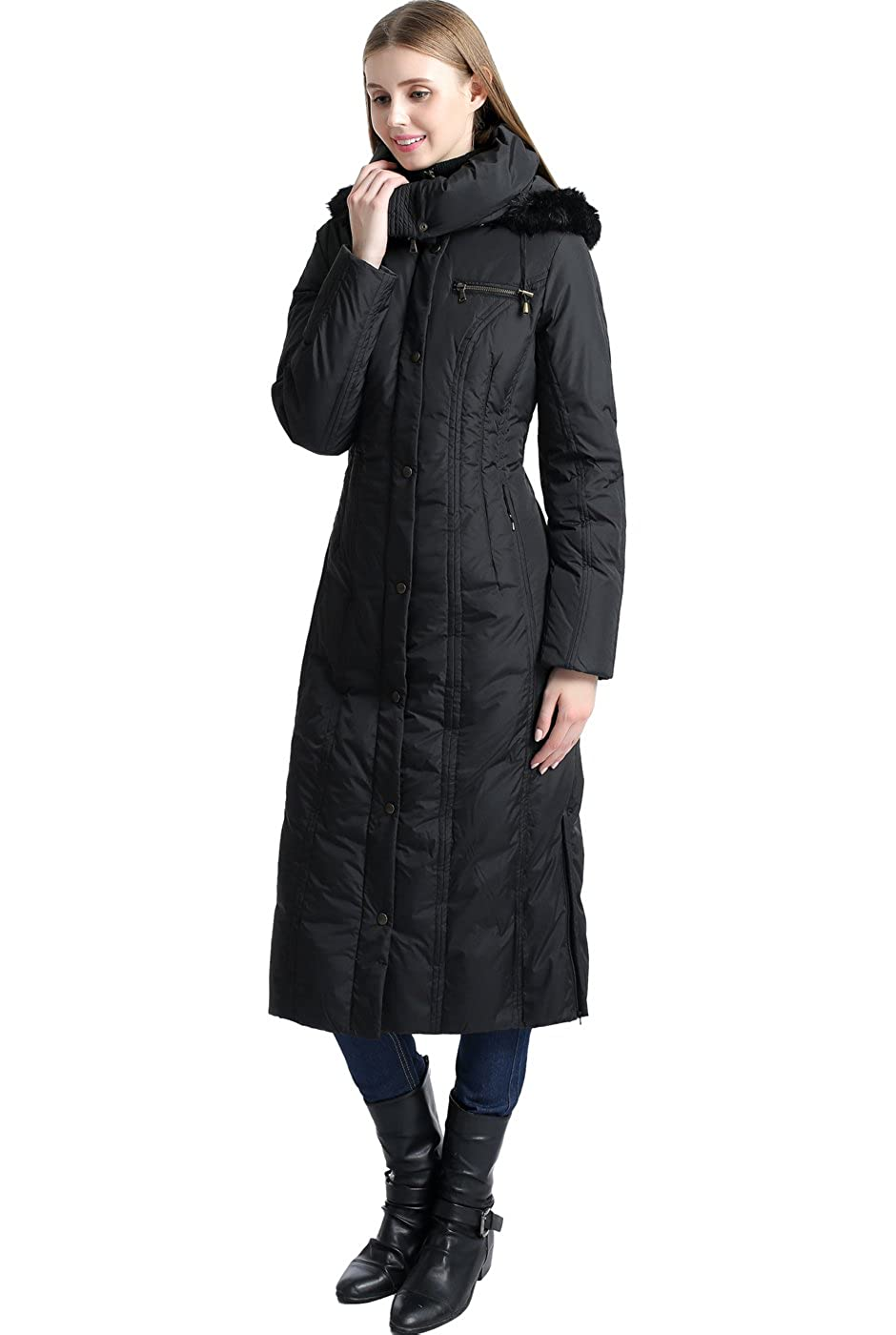 2368f69bd4d BGSD Women's Lacey Water Resistant Maxi Down Coat: Amazon.ca: Clothing &  Accessories