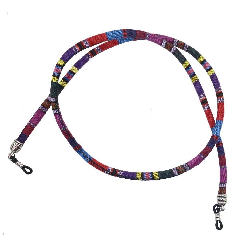 4pcs Vintage Ethnic Eyeglass Holder Reading Glasses Strap Cotton Rope Chain