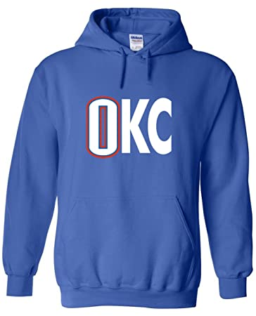 "a8f7eb4fbe1 The Silo BLUE Oklahoma City Westbrook ""OKC"" Hooded Sweatshirt  ADULT"