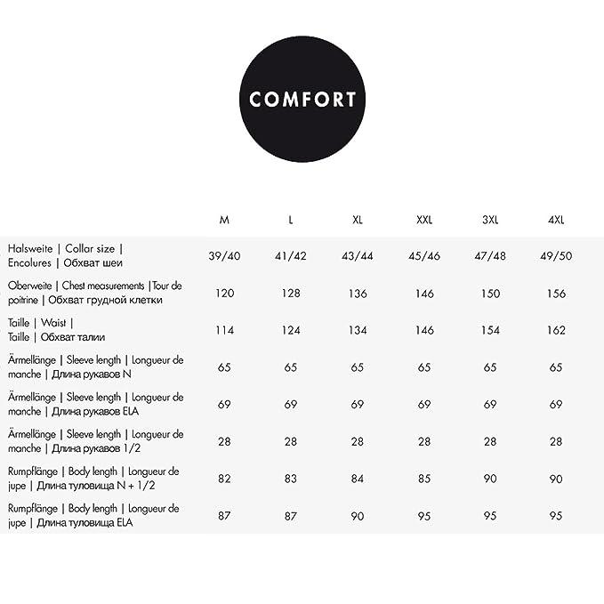 Seidensticker Herren Langarm Hemd Comfort Print Business Kent Patch2 Struktur 315140