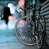 Gold Happy 24 Pcs/Set White Reflective Bicycle Spokes Riding Rim Mounting Placement Safety Warning Light Tube Bike Wheel Spoke Reflector
