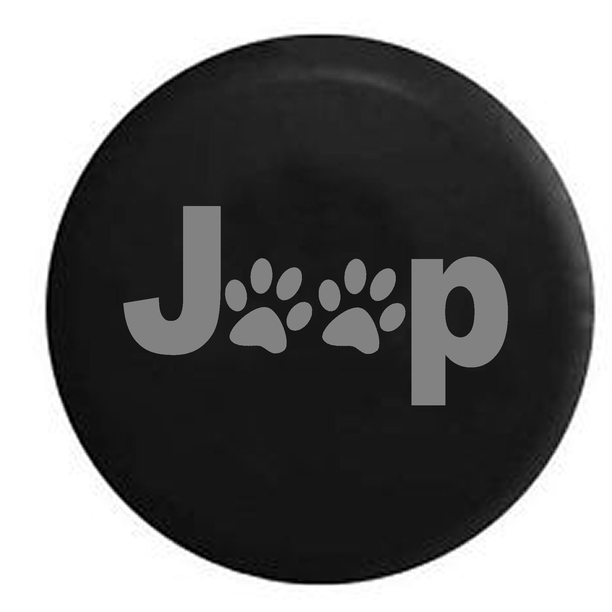 Stealth - Jeep Paw Prints Dog Lover Spare Tire Cover Black 34-35 in