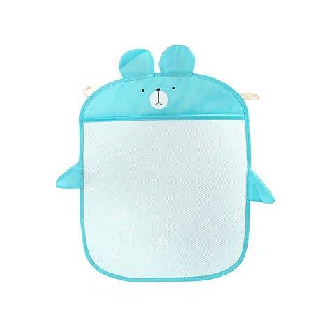 Toyvian Organizador de Juguetes de bañera multifunción Bolsas de Almacenamiento de Juguetes de baño con Honda (Azul)