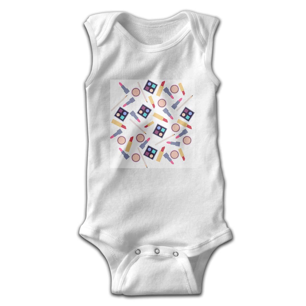 Efbj Toddler Baby Boys Rompers Sleeveless Cotton Onesie,Lipstick Make Up Bodysuit Spring Pajamas