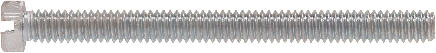 100-Pack The Hillman Group 112118 10-24 x 1//2-Inch Hex Head Slotted Machine Screw