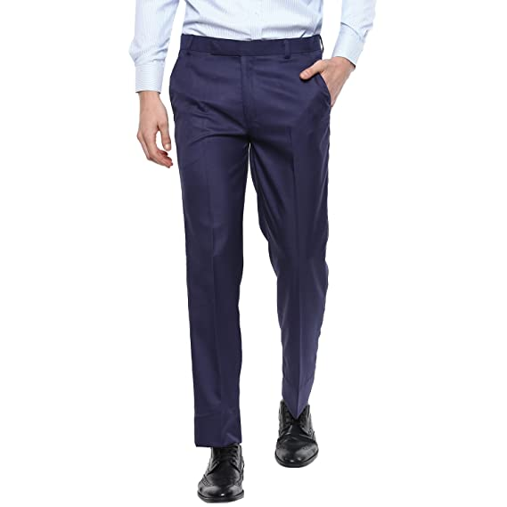 42d0882bfe5 SHAURYA-F Regular Fit Men s Blue Trousers for Men s  Amazon.in  Clothing    Accessories