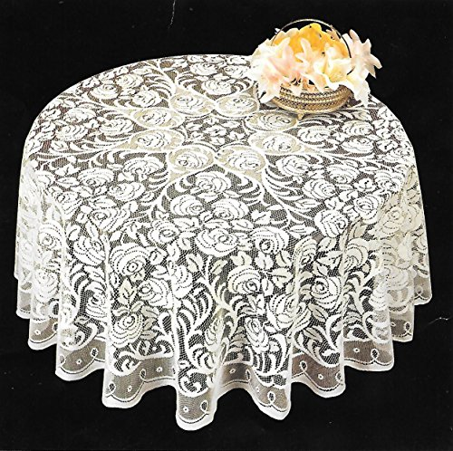 Lace Round Tablecloth - Adonisusa 40 Inch Round Decorative Lace
