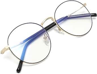 Zéro D Clean Lens Gafas redondas con bloqueo de luz azul para juegos de computadora/TV/teléfonos Anti fatiga ocular para hombres mujeres