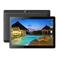 BENEVE Tablet Android 7.0 Nougat Dual sim 4G Panel DE 10.1 HD IPS Pulgadas, Procesador MTK QuadCore WiFi PC-Negro