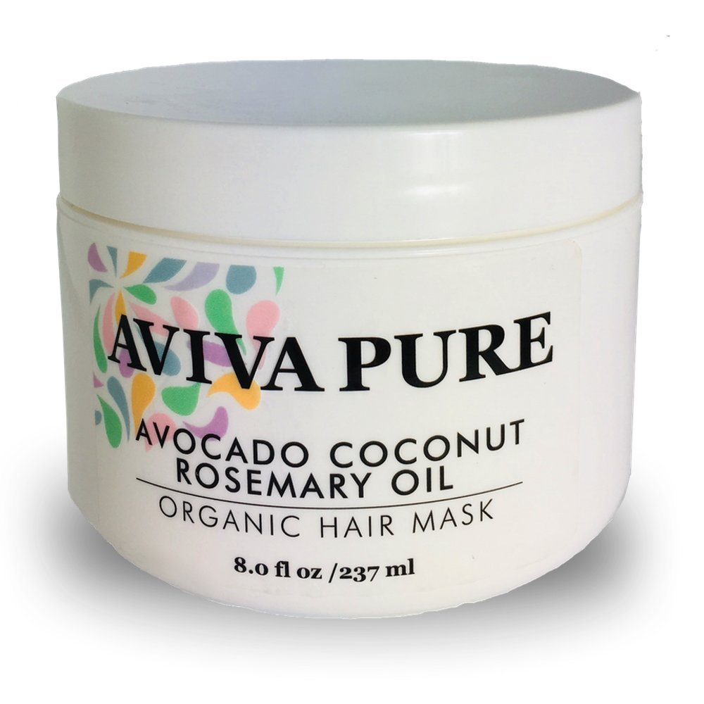 Amazon Com Organic Coconut Avocado Oil Hair Mask For Dry Damaged Hair And Hair Growth Hair Mask Treatment Hair Mask Made With Organic Virgin Coconut Oil Avocado Oil And Rosemary Oil Beauty