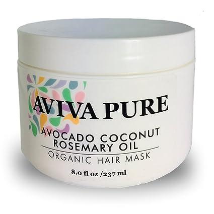AVIVA PURE Mascarilla coco orgánico aceite de aguacate para cabello seco y dañado y el crecimiento