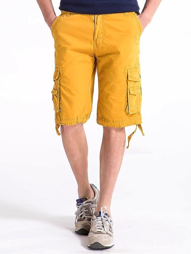 ff0b205e37 OCHENTA Men's Cotton Lesuire Multi Pockets Cargo Shorts | Amazon.com