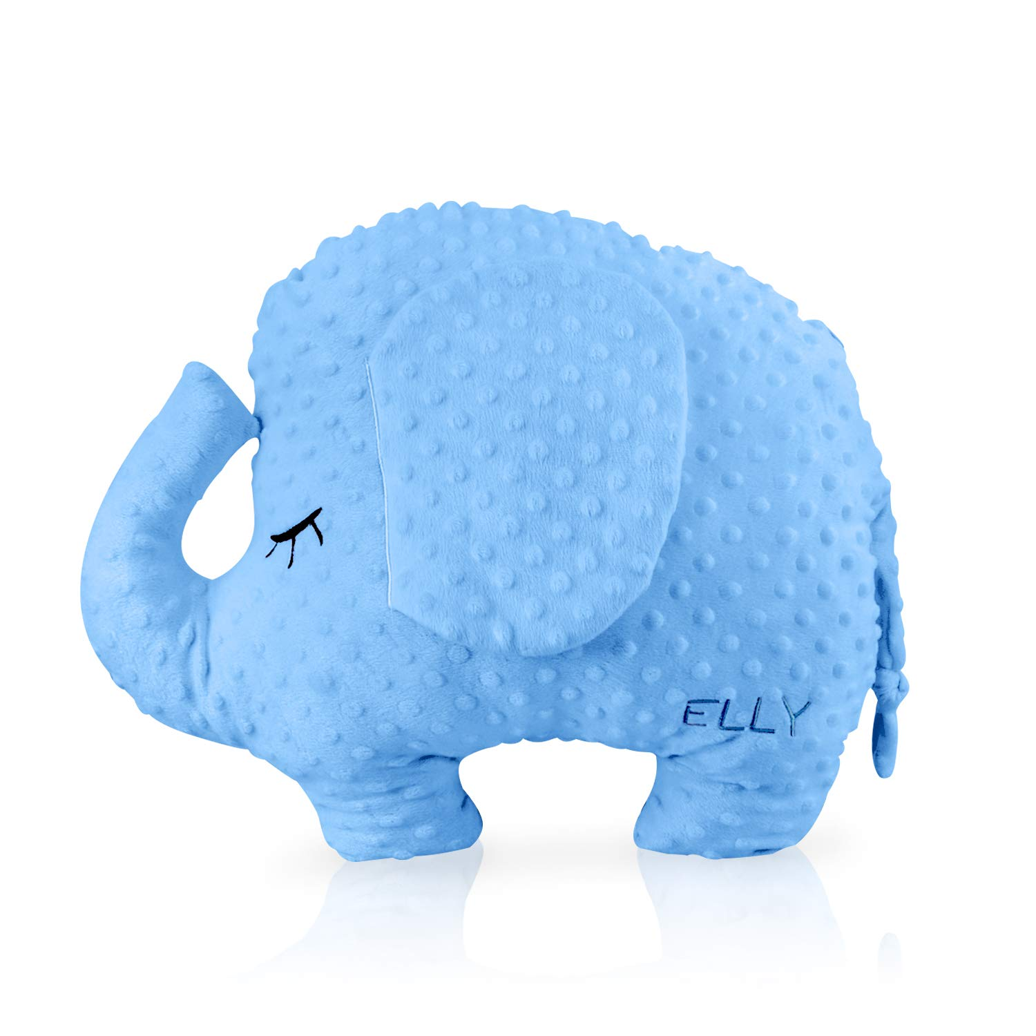 Artoid Conch Sensory Weighted Cuddly Elephant for Adult and Kids | 4lbs, 14''x18'', 100% Cotton & Glass Beads | Weighted Stuffed Animal Sensory Support for Calm, Improve Focus and Attention