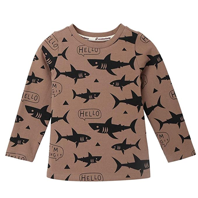 Amazon.com: fineser bebé bebé niños niñas Shark impresión ...