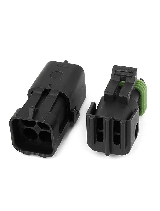 Amazon.com: eDealMax plástico Conectores de Cable a prueba de agua zócalo DE 4 Patas 4 posiciones Para el coche: Electronics