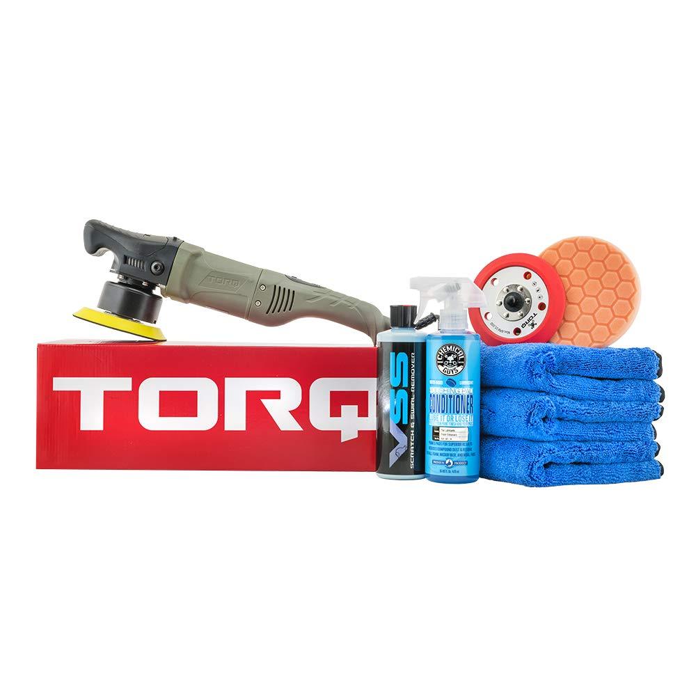 Chemical Guys BUF613 TORQ10FX Random Orbital Polisher One-Step Scratch and Swirl Remover Kit (8 Items), 16. Fluid_Ounces