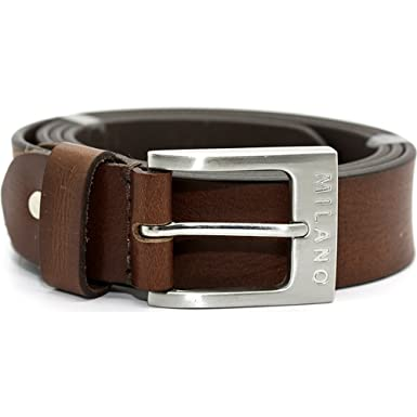 11243643842 Milano Mens Full Grain Leather Belt - 1.5
