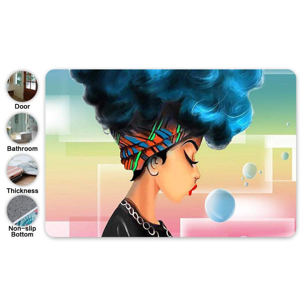 Amazon Com Beiai African American Blue Hair Natural Africa Doormat
