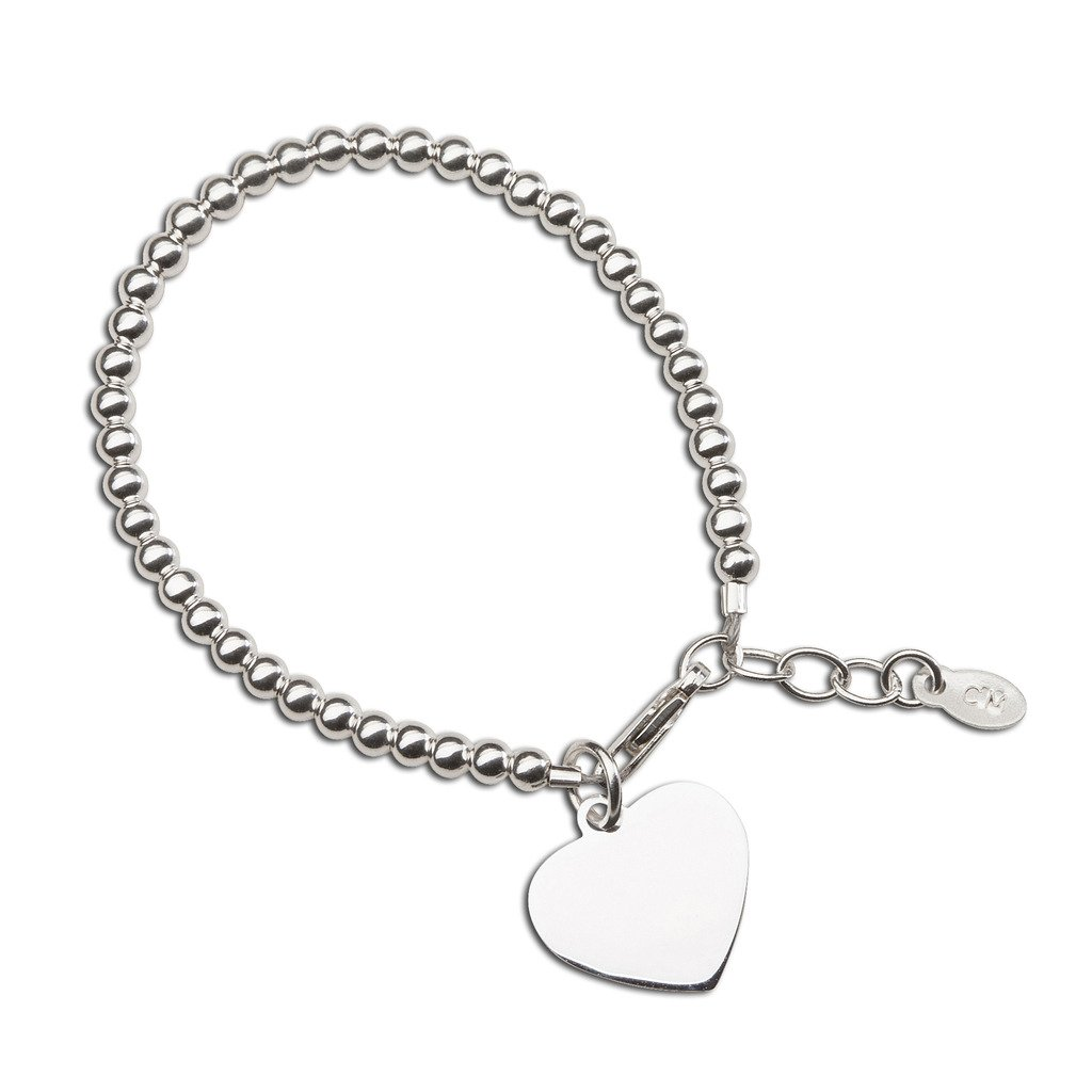 Children's or Baby Sterling Silver Bracelet with Engravable Heart Cherished Moments TC-Savannah-L