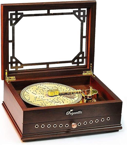 W.Z.H.H.H Caja de Musica Music Box Vintage Record Player Music Box ...