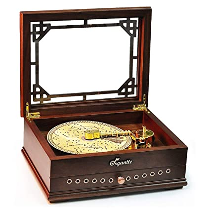 SKKMALL Retro Music Box Vintage Record Player Music Box Turntable