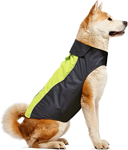HiGuard Dog Raincoat Lightweight Waterproof Large Pet Dog Rain Jacket with Strip Reflective /& Leash Hole Winter Dog Vest Warm Rain Coats Safety for Dogs and Puppies